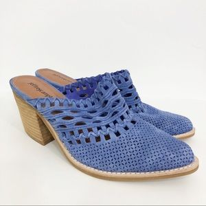 Jeffrey Campbell Favela Suede Perforated Mules